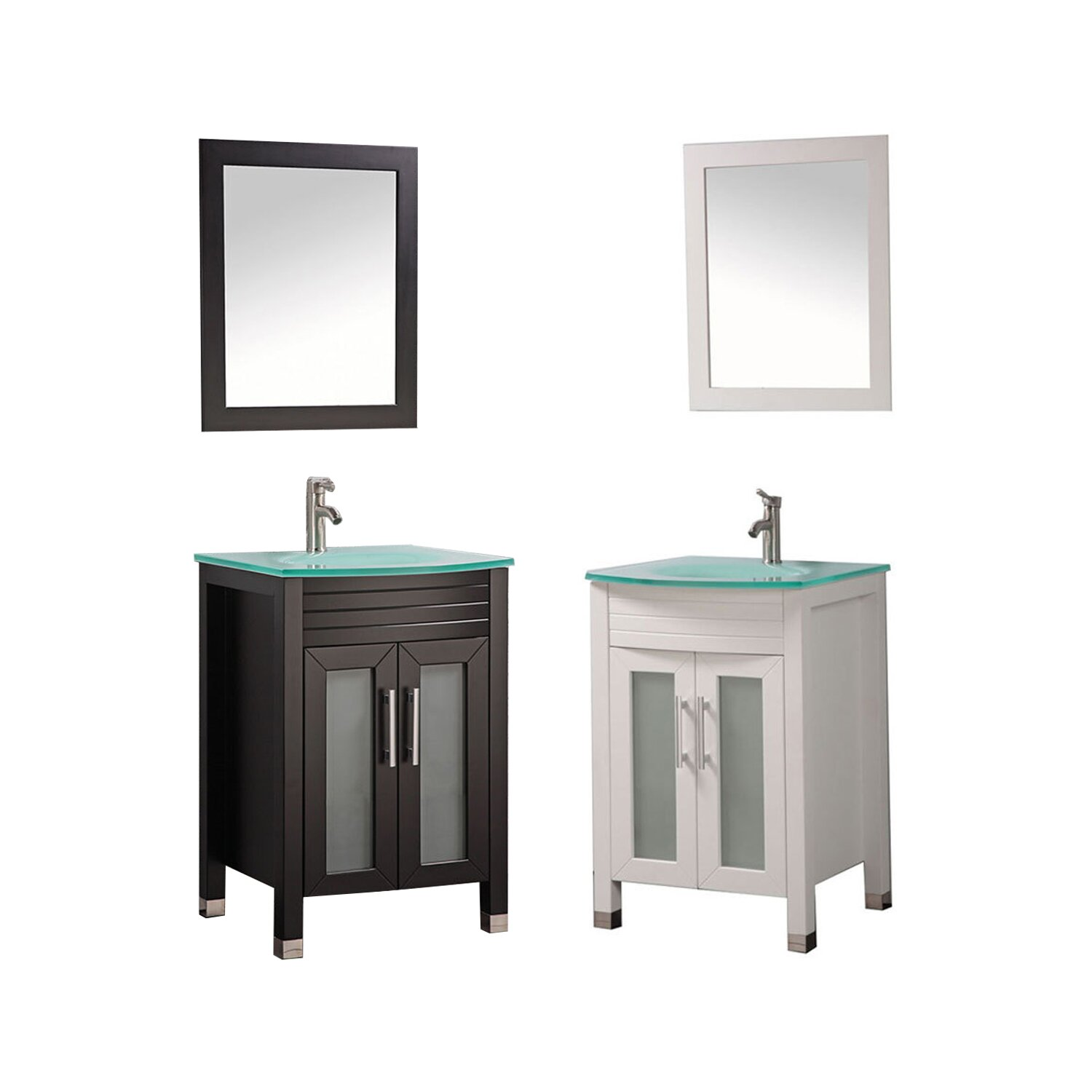 Mtdvanities figi 24 single sink bathroom vanity set with mirror reviews wayfair Bathroom sink and vanity sets