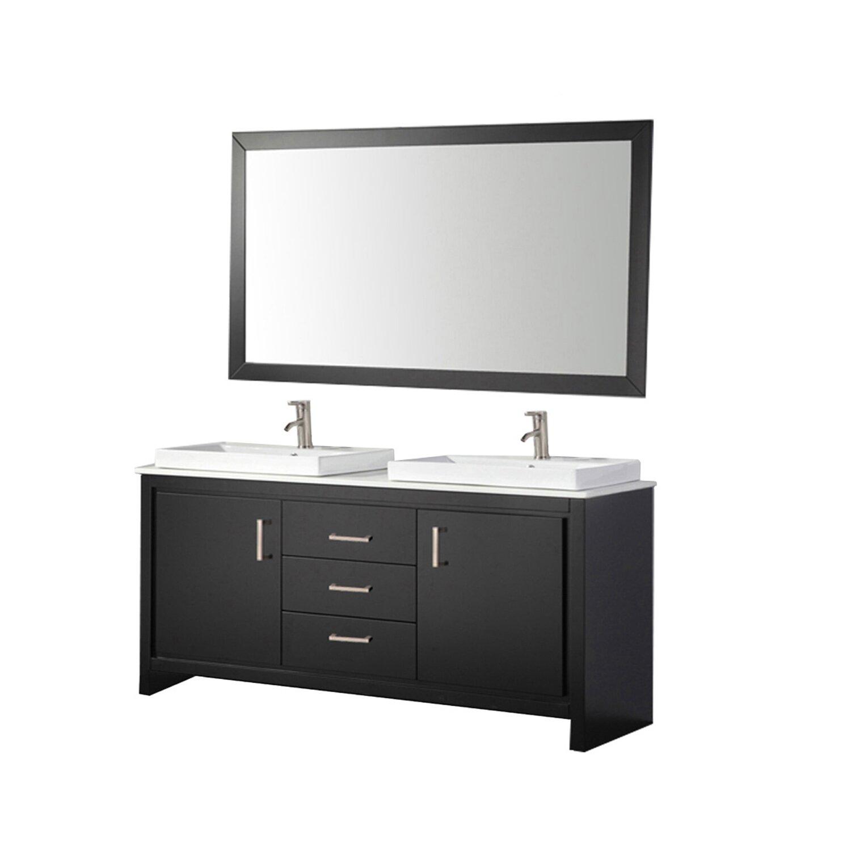 Mtdvanities belarus 60 double sink bathroom vanity set for Bathroom mirror set