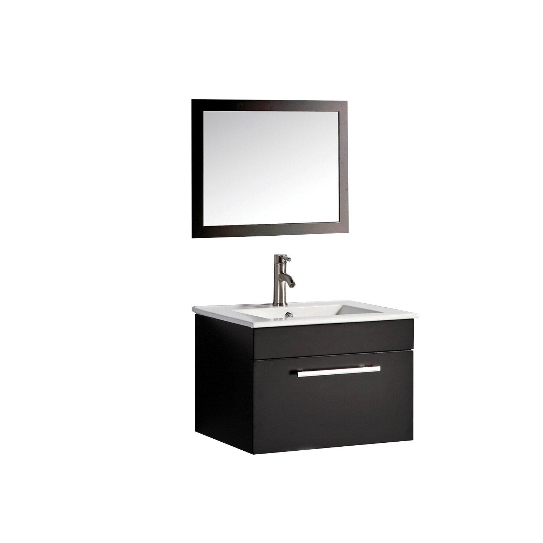Mtdvanities nepal 24 single sink bathroom vanity set with for Bathroom mirror set