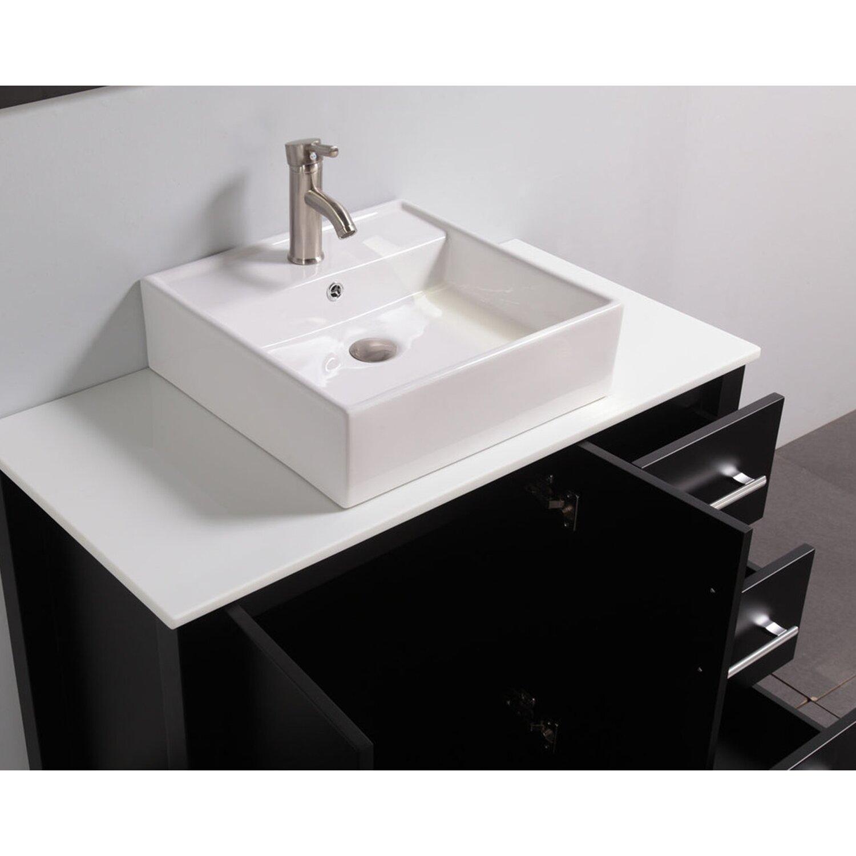 Mtdvanities Aruba 40 Single Sink Bathroom Vanity Set With Mirror Reviews Wayfair