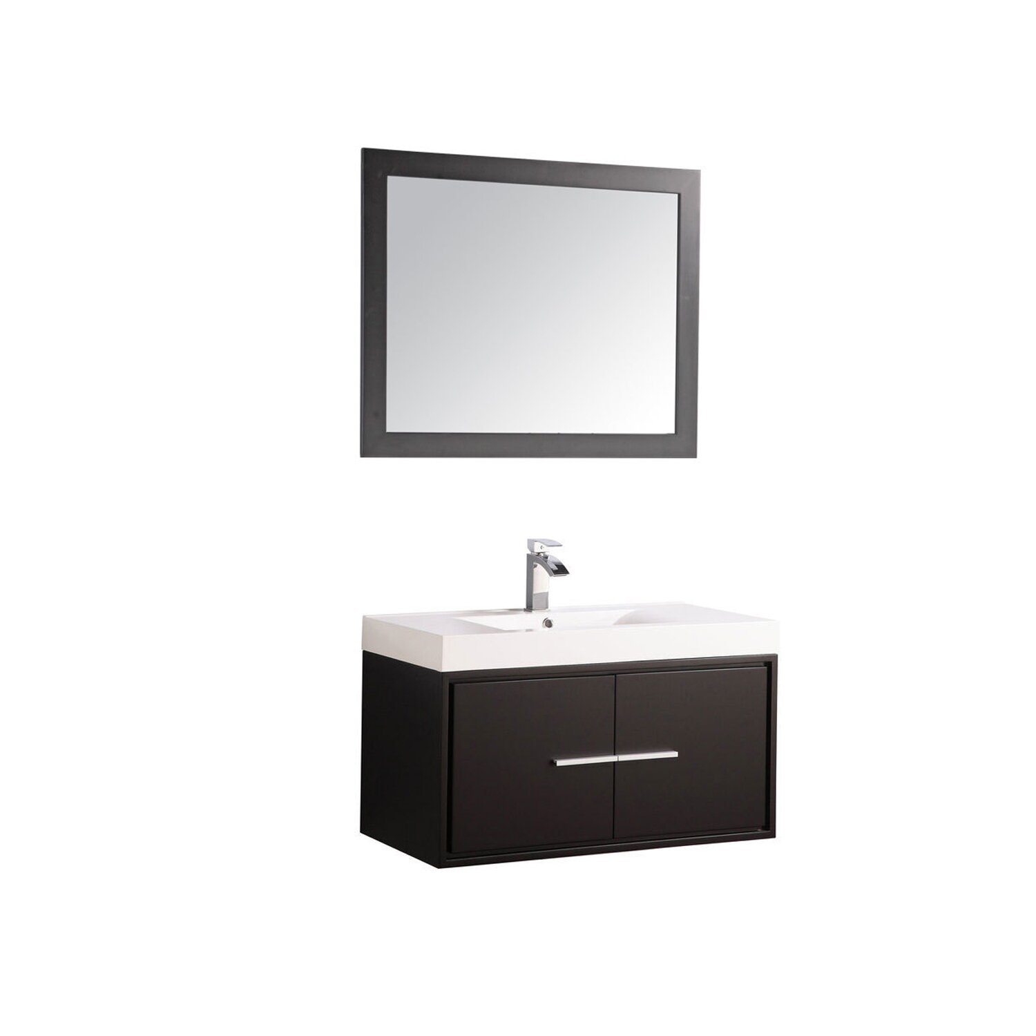 Mtdvanities cypress 36 single floating bathroom vanity Floating bathroom vanity