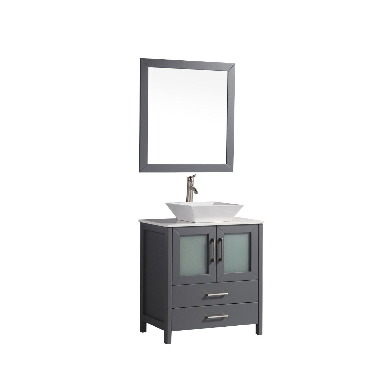 Mtdvanities tahiti 24 single modern bathroom vanity set for Contemporary bathroom vanities