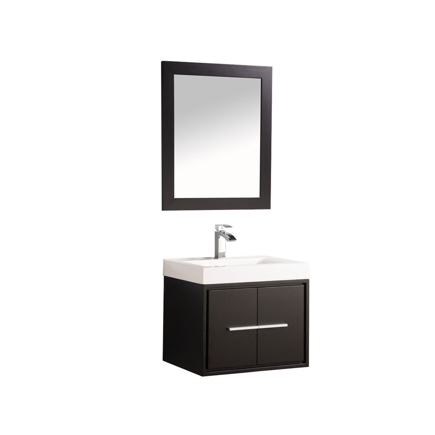 "MTDVanities Cypress 24"" Single Floating Bathroom Vanity Set with Mirror"