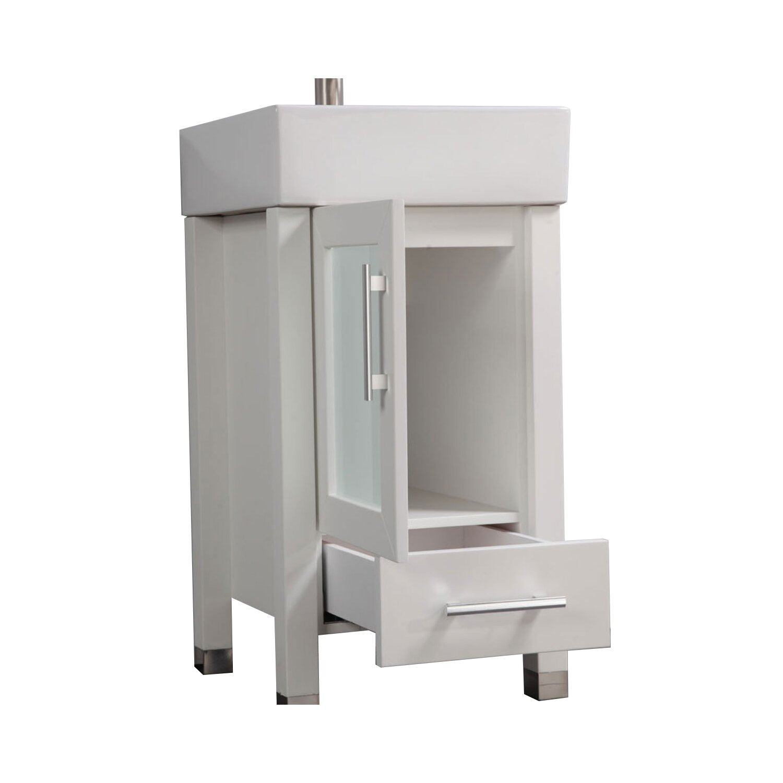 Mtdvanities malta 18 single sink bathroom vanity set with for Bathroom mirror set