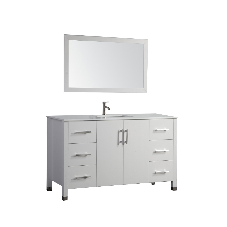 "MTDVanities Monaco 60"" Single Sink Bathroom Vanity Set with Mirror &"