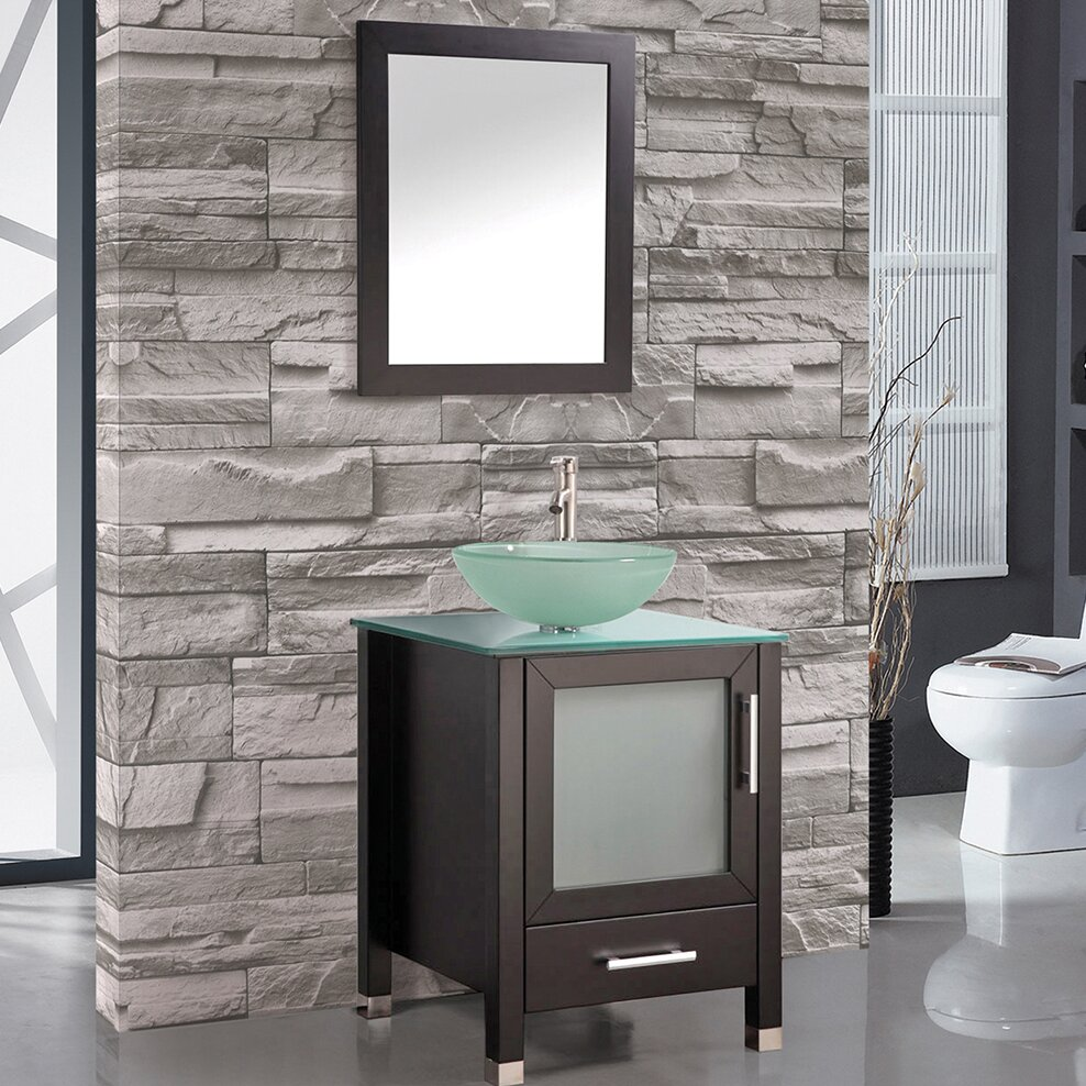 mtd vanities cuba 24 single sink bathroom vanity set with mirror