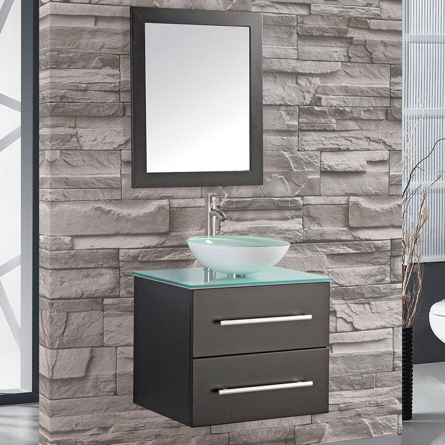 vanities cuba 24 single wall mounted bathroom vanity set with mirror