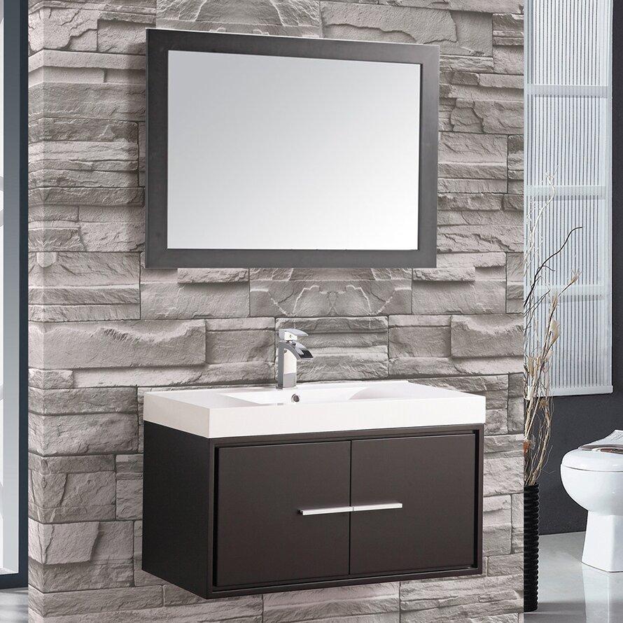 Mtdvanities Cypress 36 Single Floating Bathroom Vanity Set With Mirror Wayfair