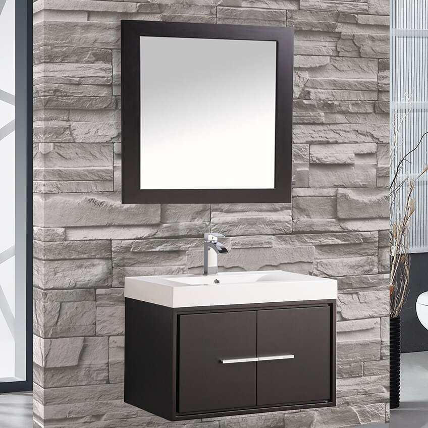 Mtdvanities cypress 30 single floating bathroom vanity Floating bathroom vanity