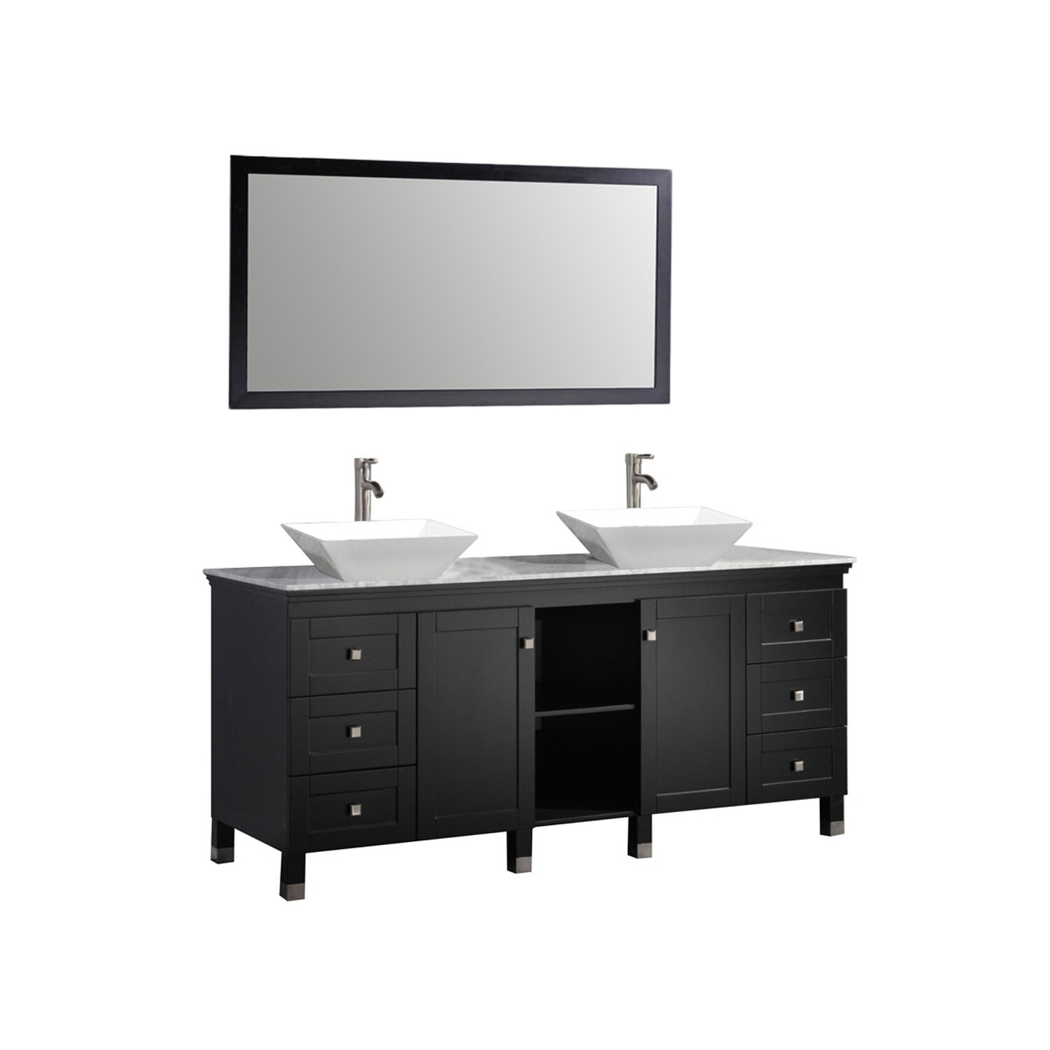 Mtdvanities Belarus 72 Double Sink Bathroom Vanity Set With Mirror Reviews Wayfair