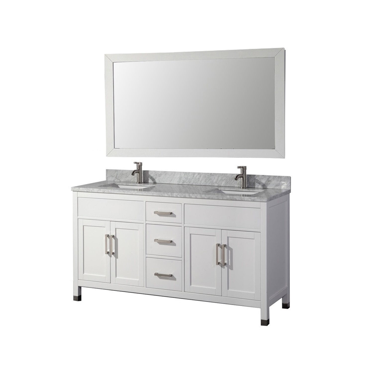 Mtdvanities Ricca 72 Double Sink Bathroom Vanity Set With Single Mirror Reviews Wayfair