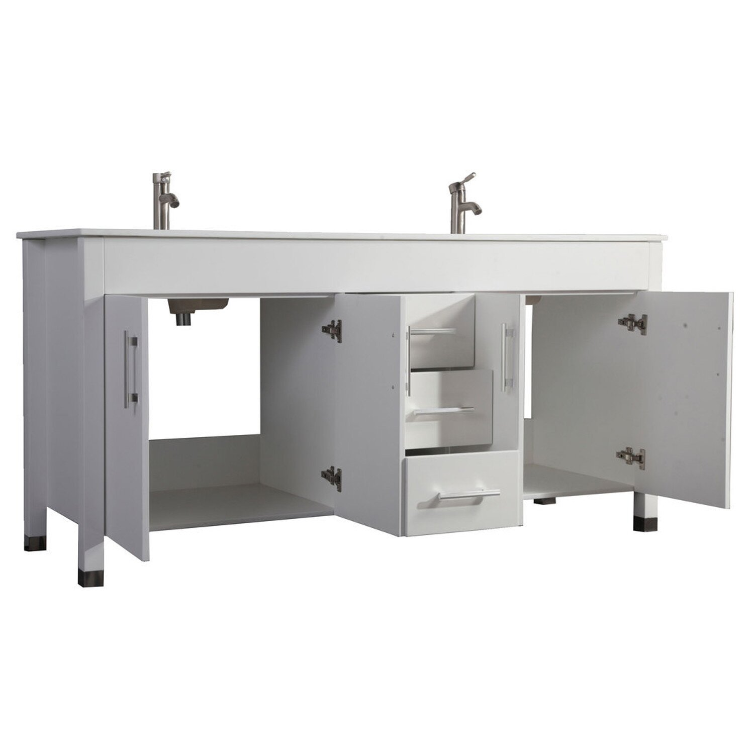 MTDVanities Monaco 71 Double Sink Bathroom Vanity Set With Mirror