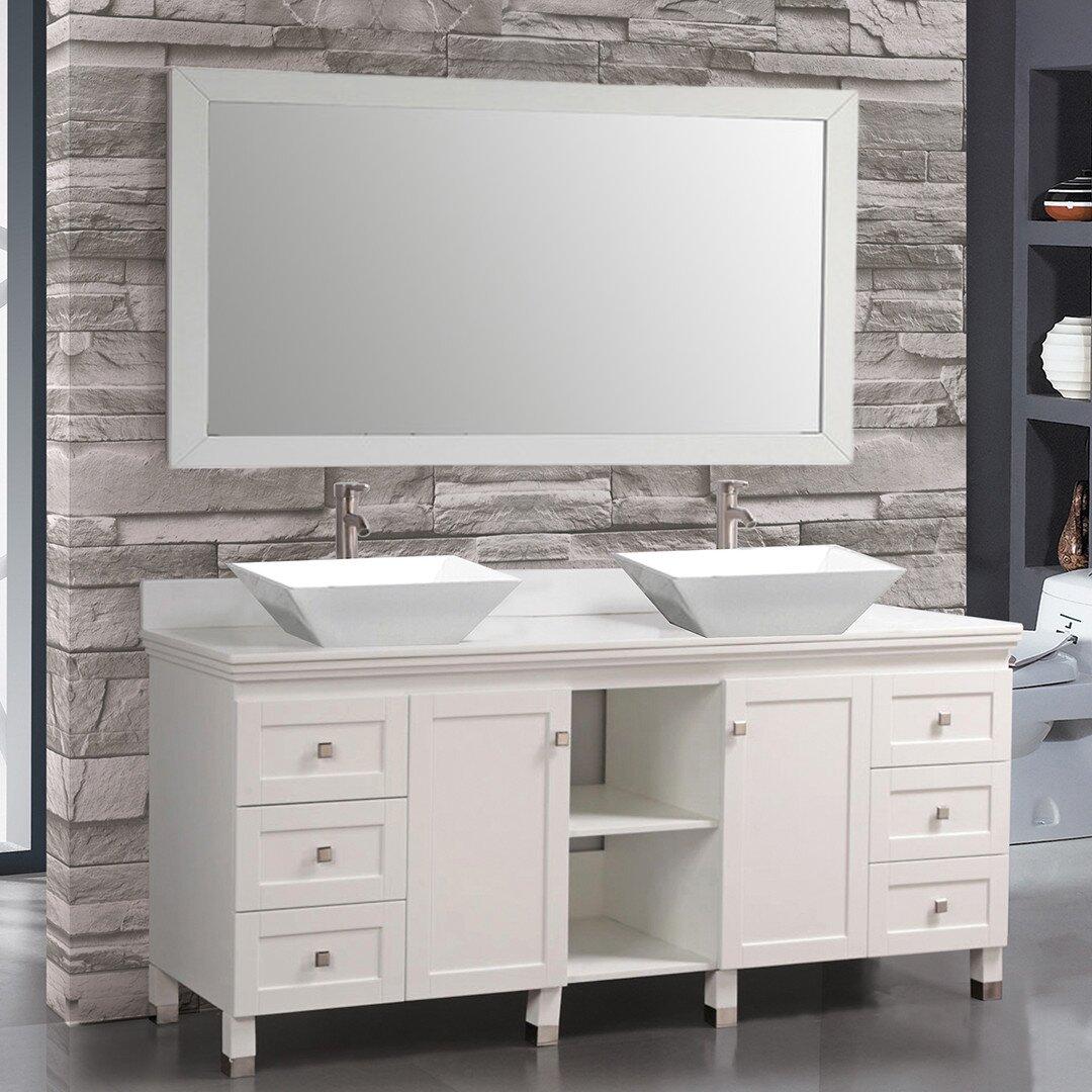 "MTDVanities Belarus 72"" Double Sink Bathroom Vanity Set with Mirrors &am"
