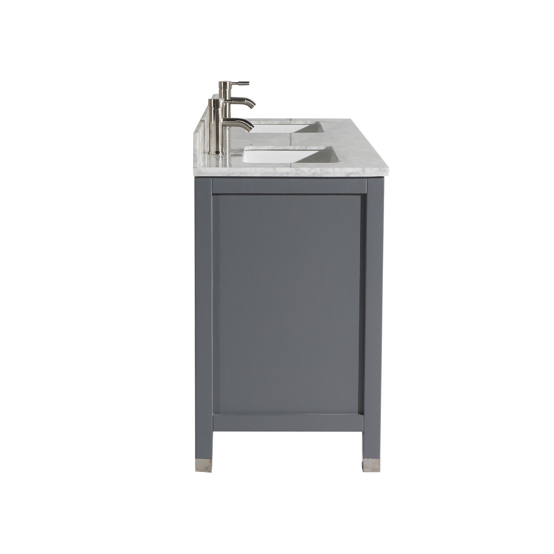 "MTDVanities Ricca 60"" Double Sink Bathroom Vanity Set with"