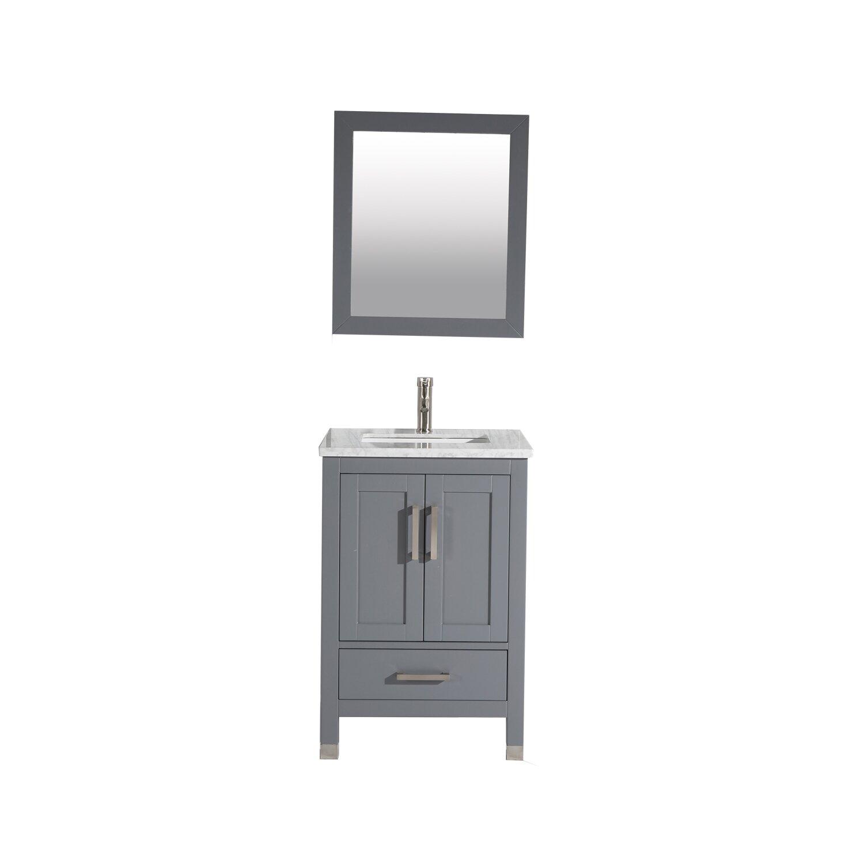Mtdvanities Ricca 24 Single Sink Bathroom Vanity Set With Mirror Reviews