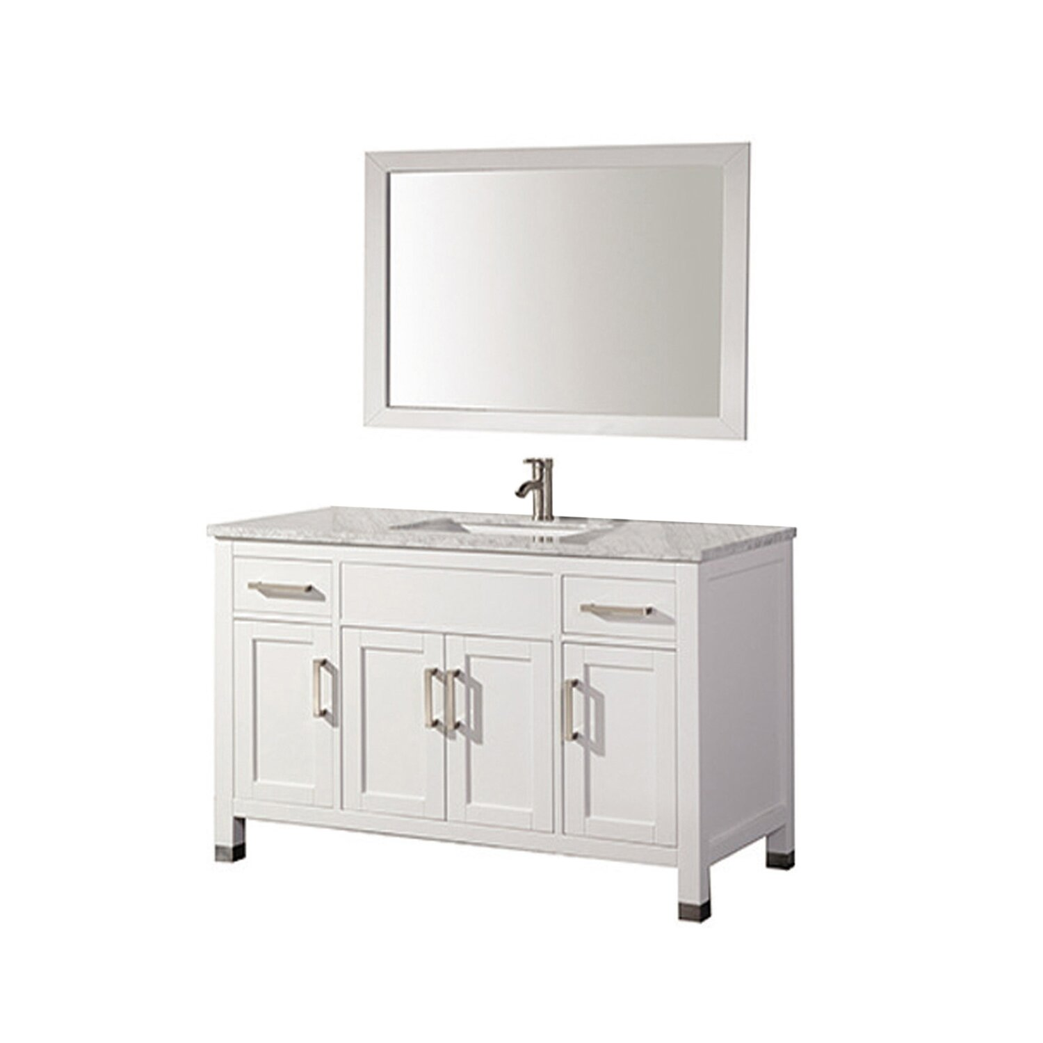 Mtdvanities Ricca 60 Single Sink Bathroom Vanity Set With Mirror Reviews