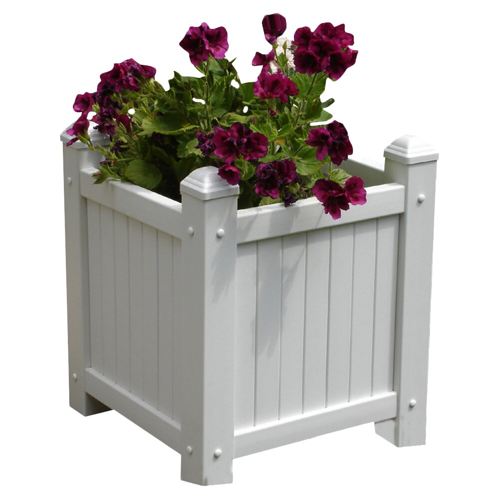 Dura trel inc square planter box reviews wayfair for Wayfair garden box