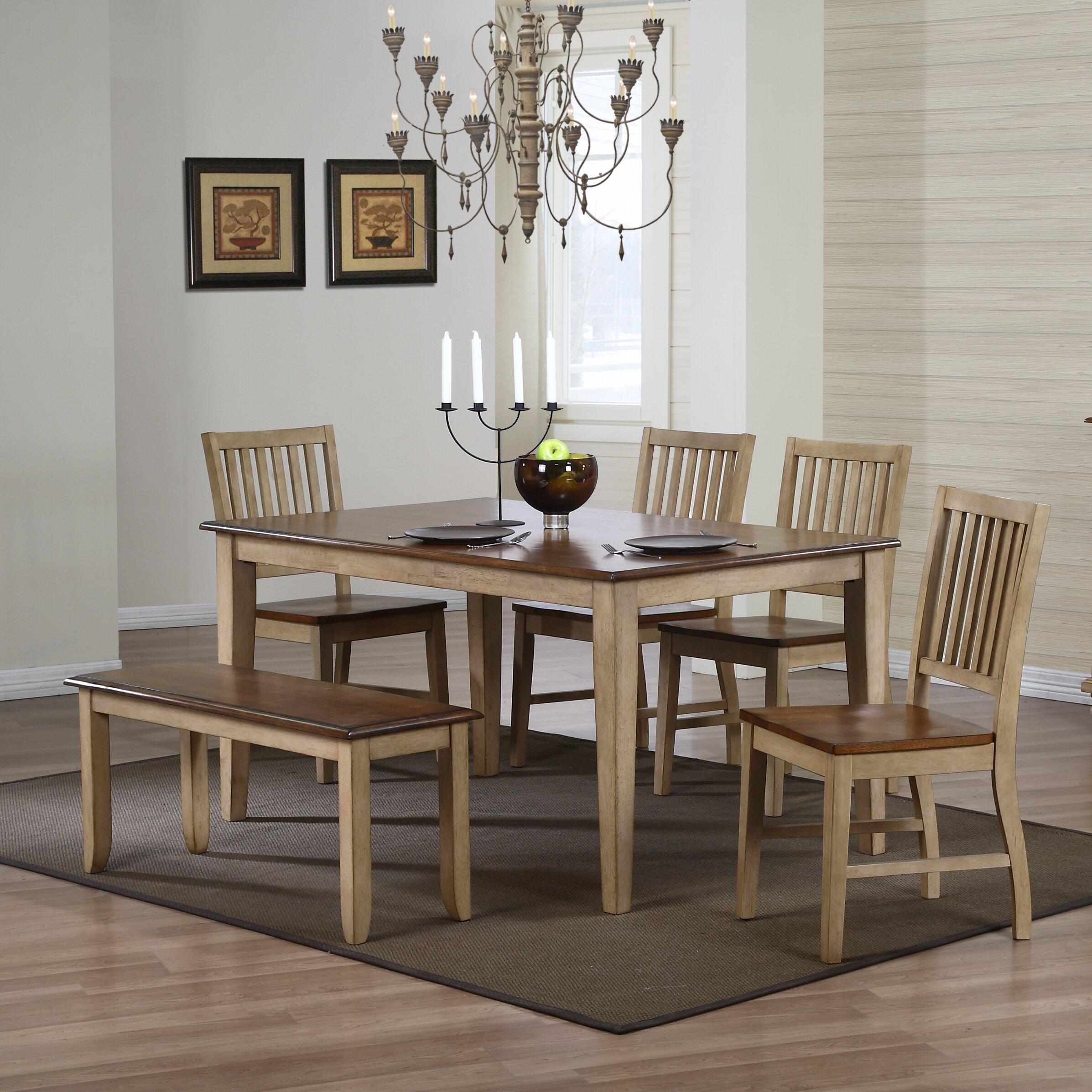 Sunset trading brook 6 piece dining set reviews wayfair for Dining room sets 6 piece