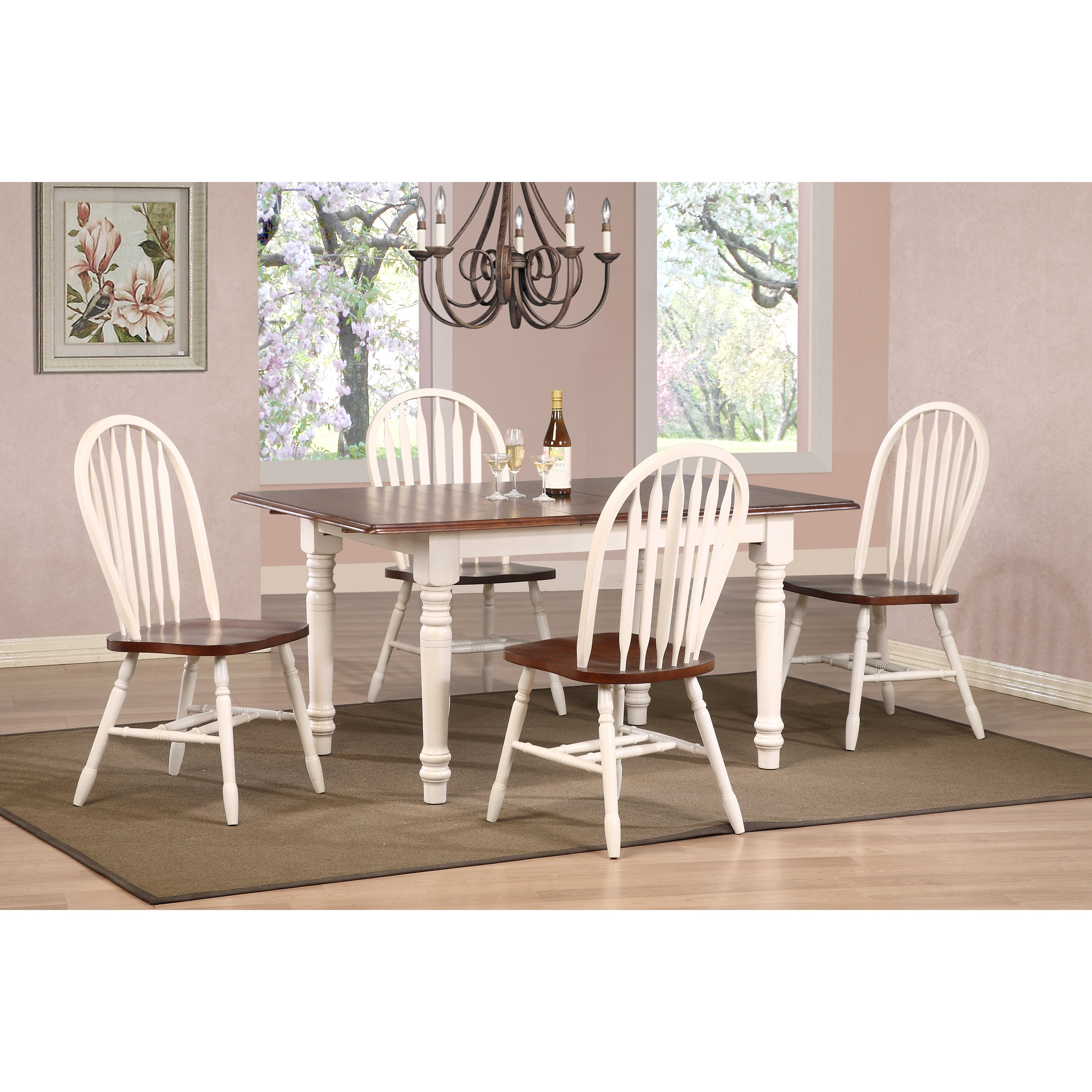 Sunset Trading Sunset Selections Butterfly 5 Piece Dining ...