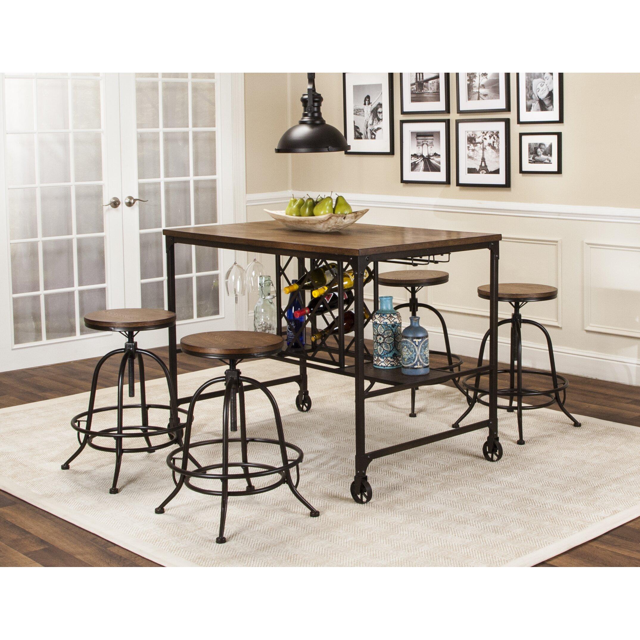 trent austin design cralcum 5 piece pub table set wayfair. Black Bedroom Furniture Sets. Home Design Ideas