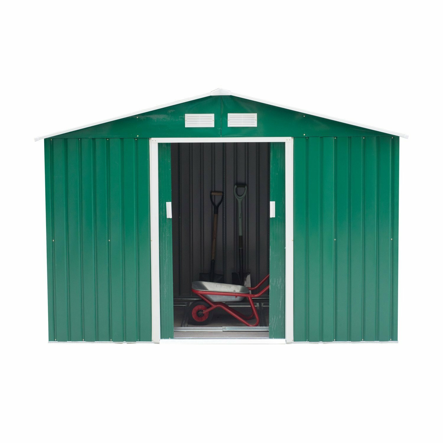 Outsunny 9 x 6 metal storage shed wayfair uk for 9 x 9 garden shed
