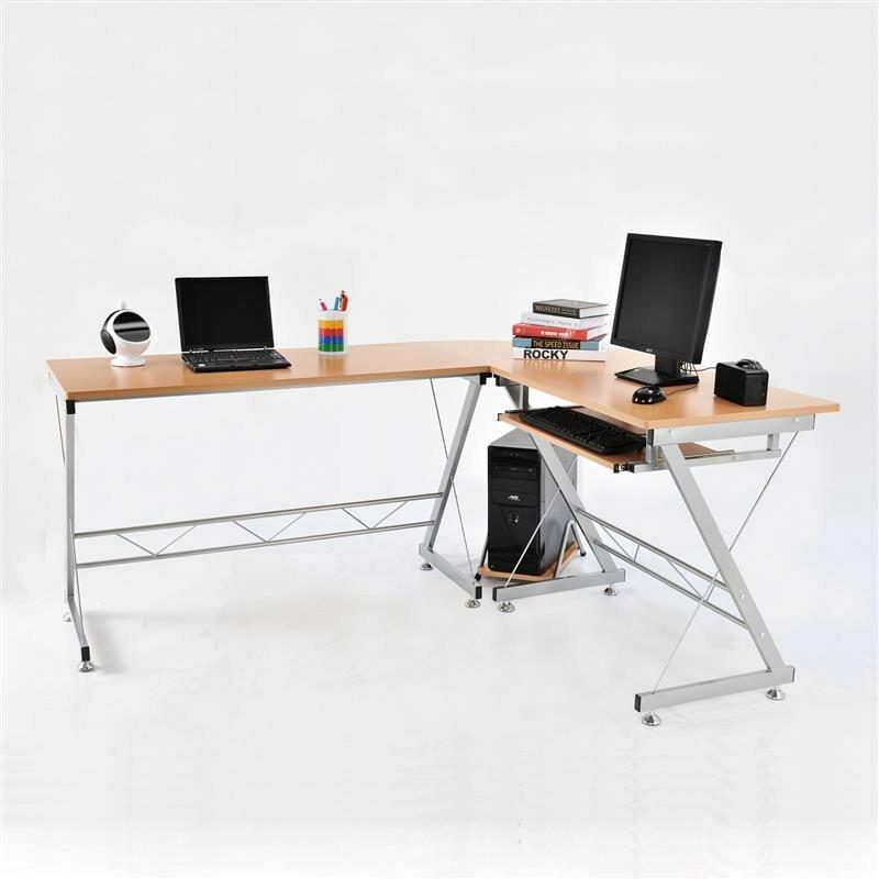 Homcom Computer Desk With Keyboard Tray Amp Reviews Wayfair Uk