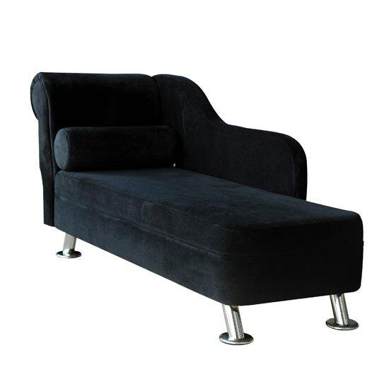 Homcom 1 seater chaiselongue reviews wayfair uk for Black velvet chaise
