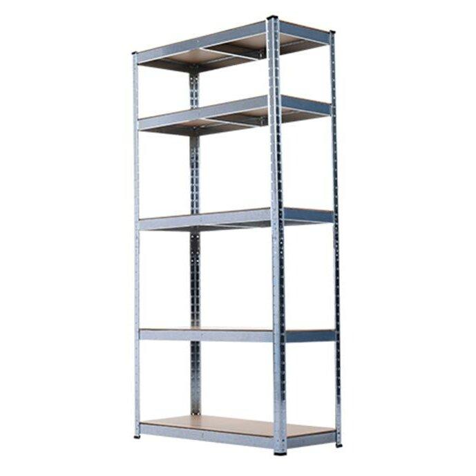 homcom 5 shelf heavy duty garage shelving unit reviews. Black Bedroom Furniture Sets. Home Design Ideas