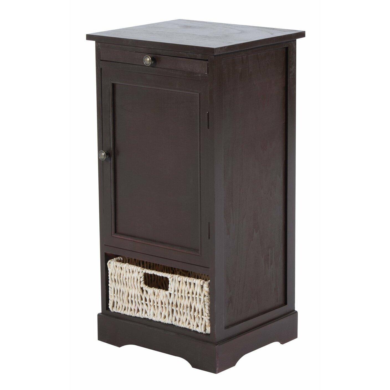 Homcom 1 drawer bedside table wayfair uk for 1 drawer table