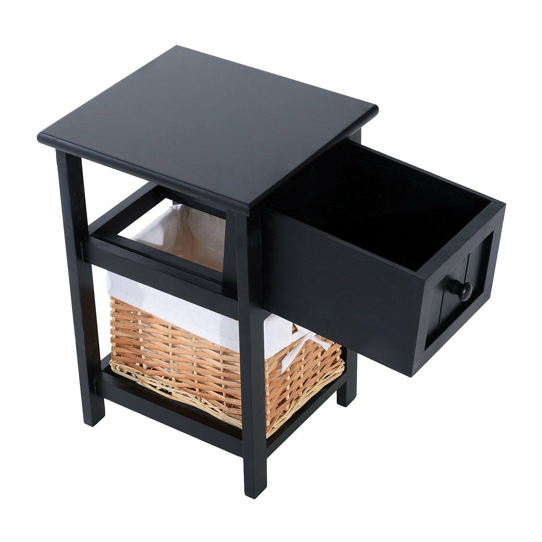 Homcom 1 drawer bedside table reviews wayfair uk for 1 drawer table