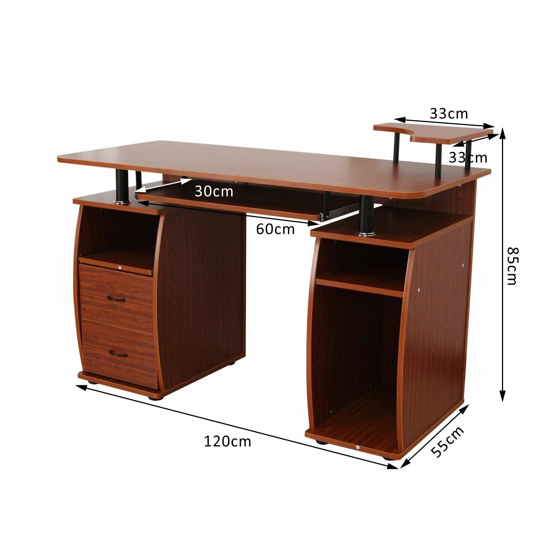 homcom computer desk wayfair uk. Black Bedroom Furniture Sets. Home Design Ideas