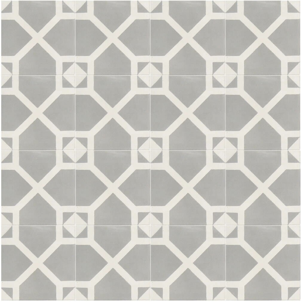 Moroccan mosaic tile house amoud 8 x 8 handmade cement for White cement tiles