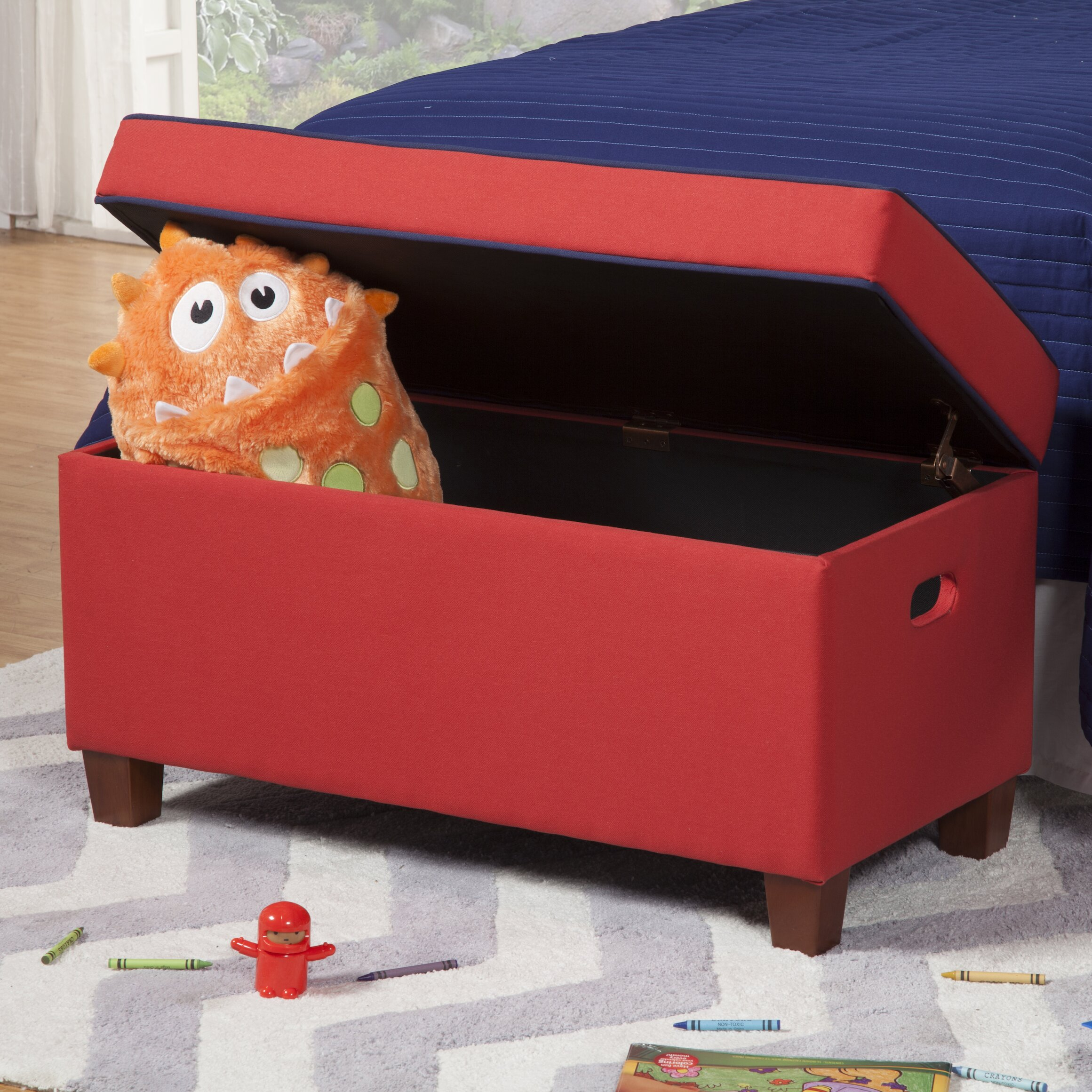 Homepop Storage Bench Reviews: HomePop Kids Bench With Storage Compartment & Reviews