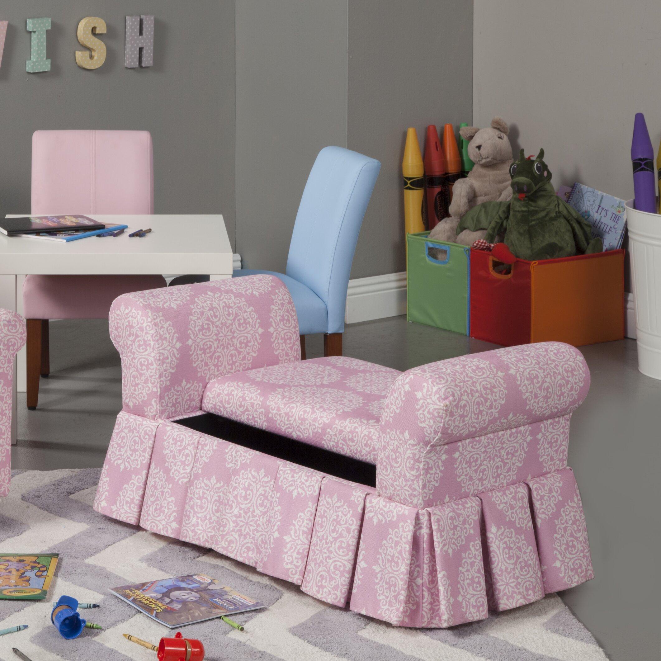 Homepop Juvenile Kids Bedroom Bench With Storage