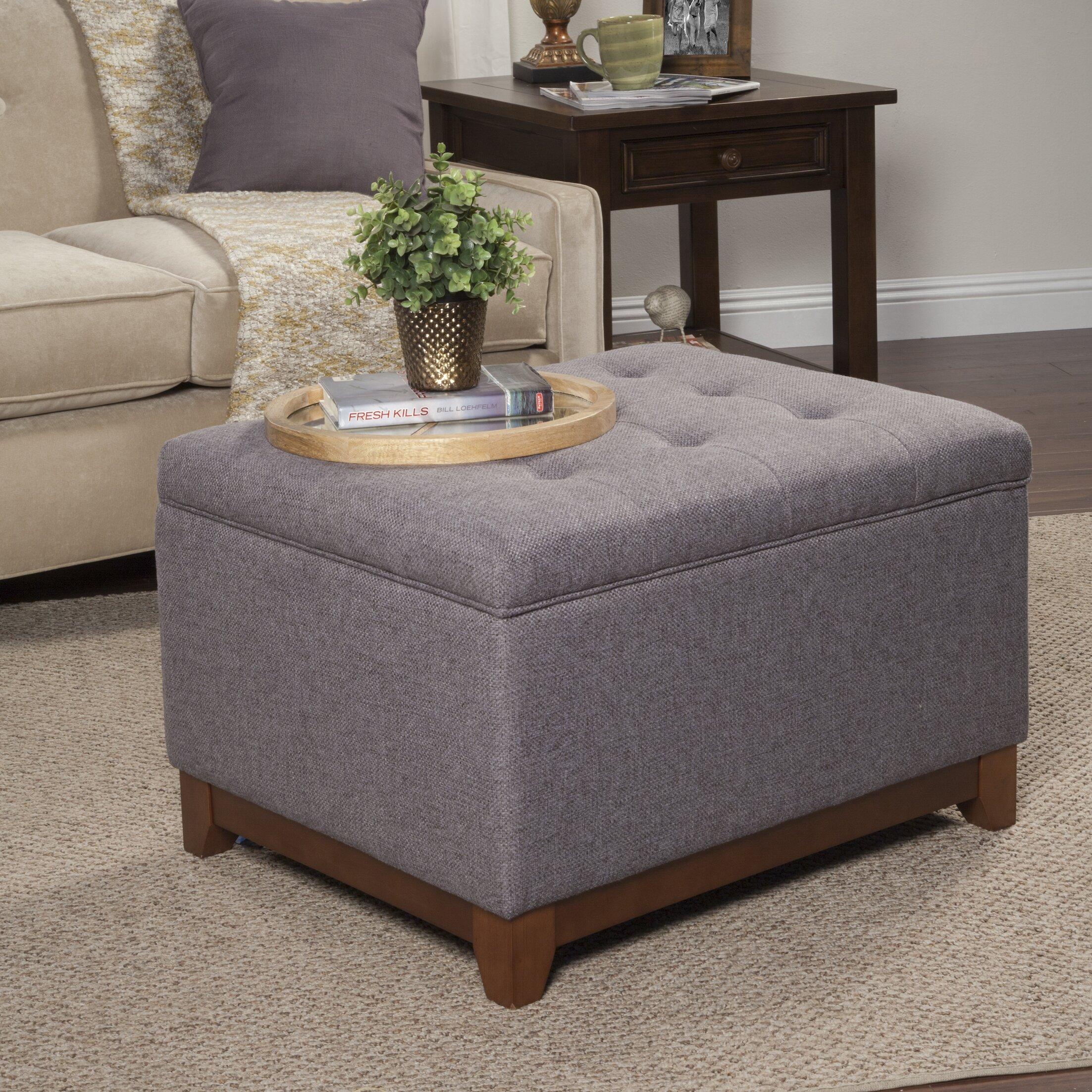 homepop upholstered storage cocktail ottoman reviews. Black Bedroom Furniture Sets. Home Design Ideas
