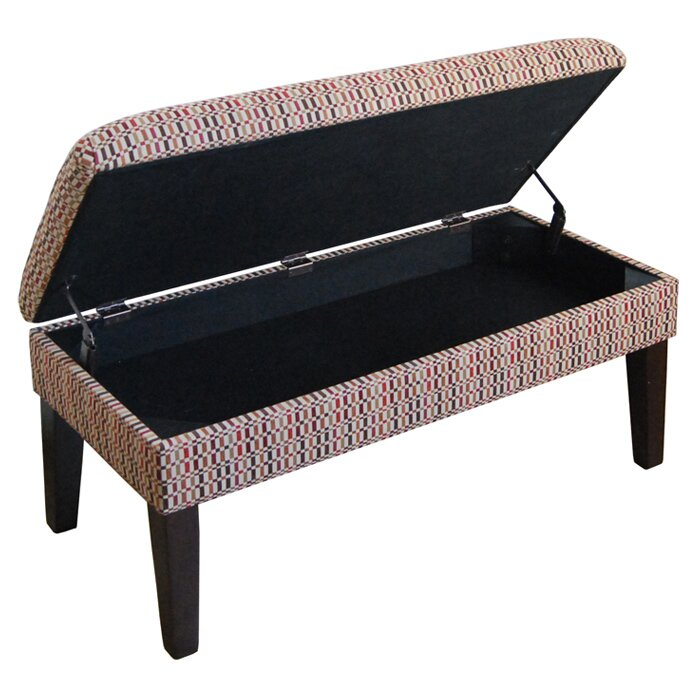 Kinfine Upholstered Storage Bedroom Bench: HomePop Decorative One Seat Bench With Storage & Reviews