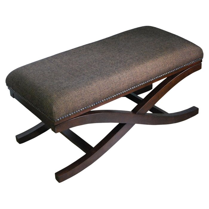 Homepop Large Upholstered Cocktail X Leg Bench Reviews Wayfair