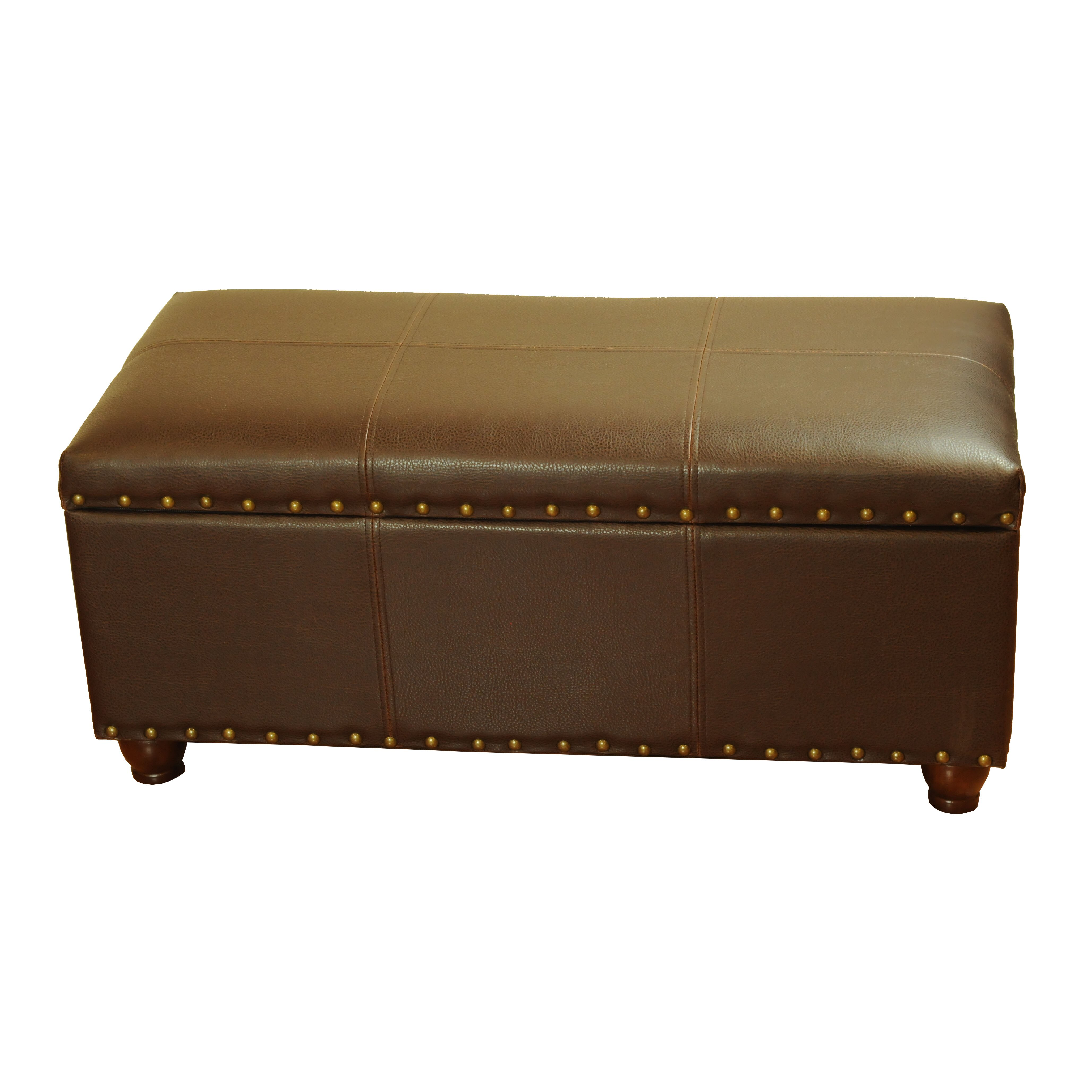 Homepop faux leather storage bedroom bench reviews wayfair Bedroom storage bench