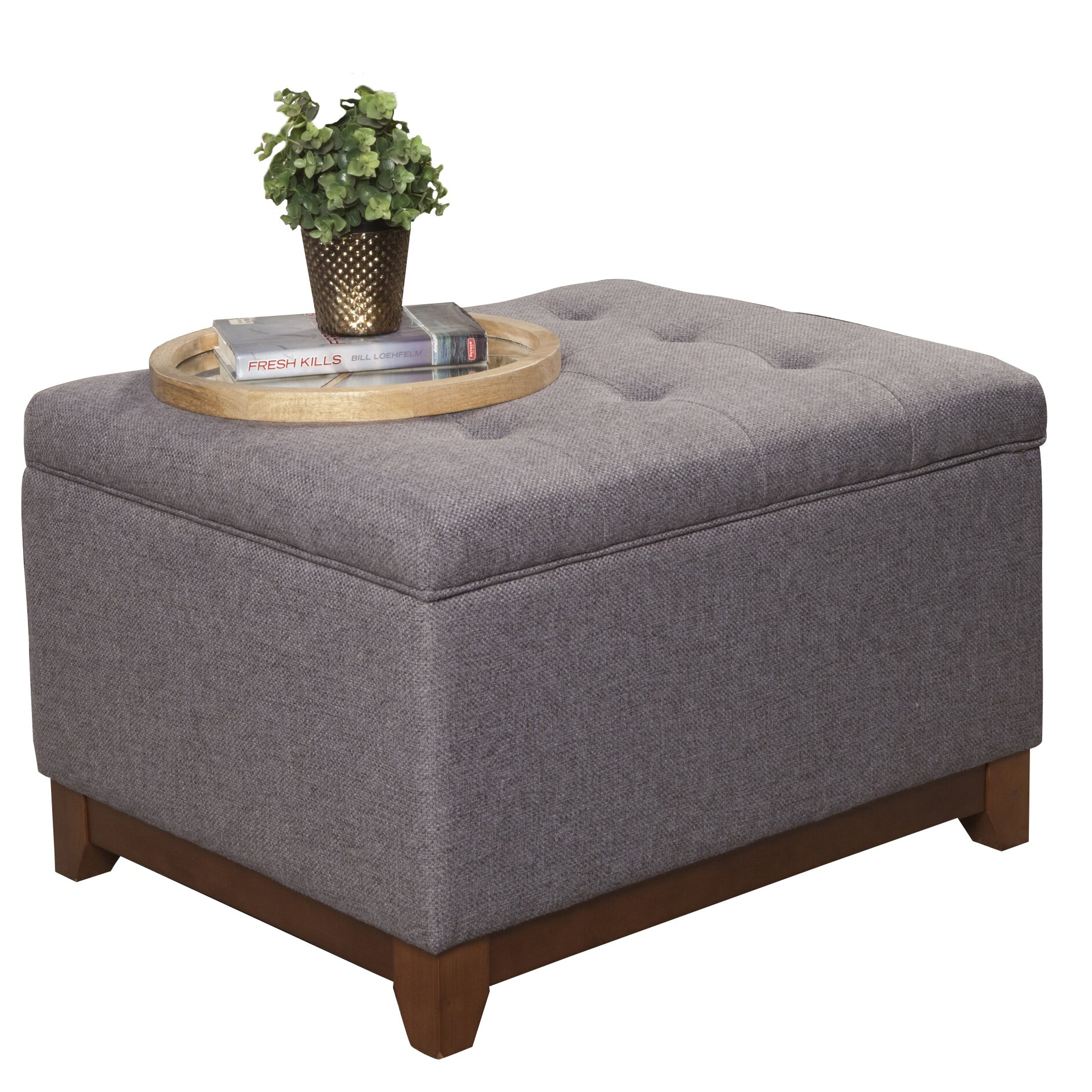 Homepop Upholstered Storage Cocktail Ottoman Amp Reviews