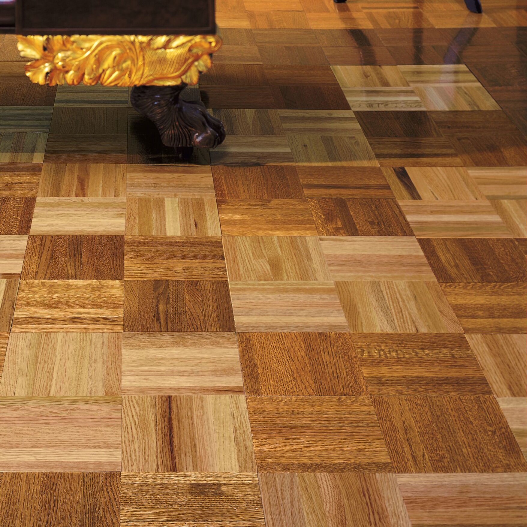 Armstrong urethane parquet 12 solid oak parquet hardwood for Real oak hardwood flooring