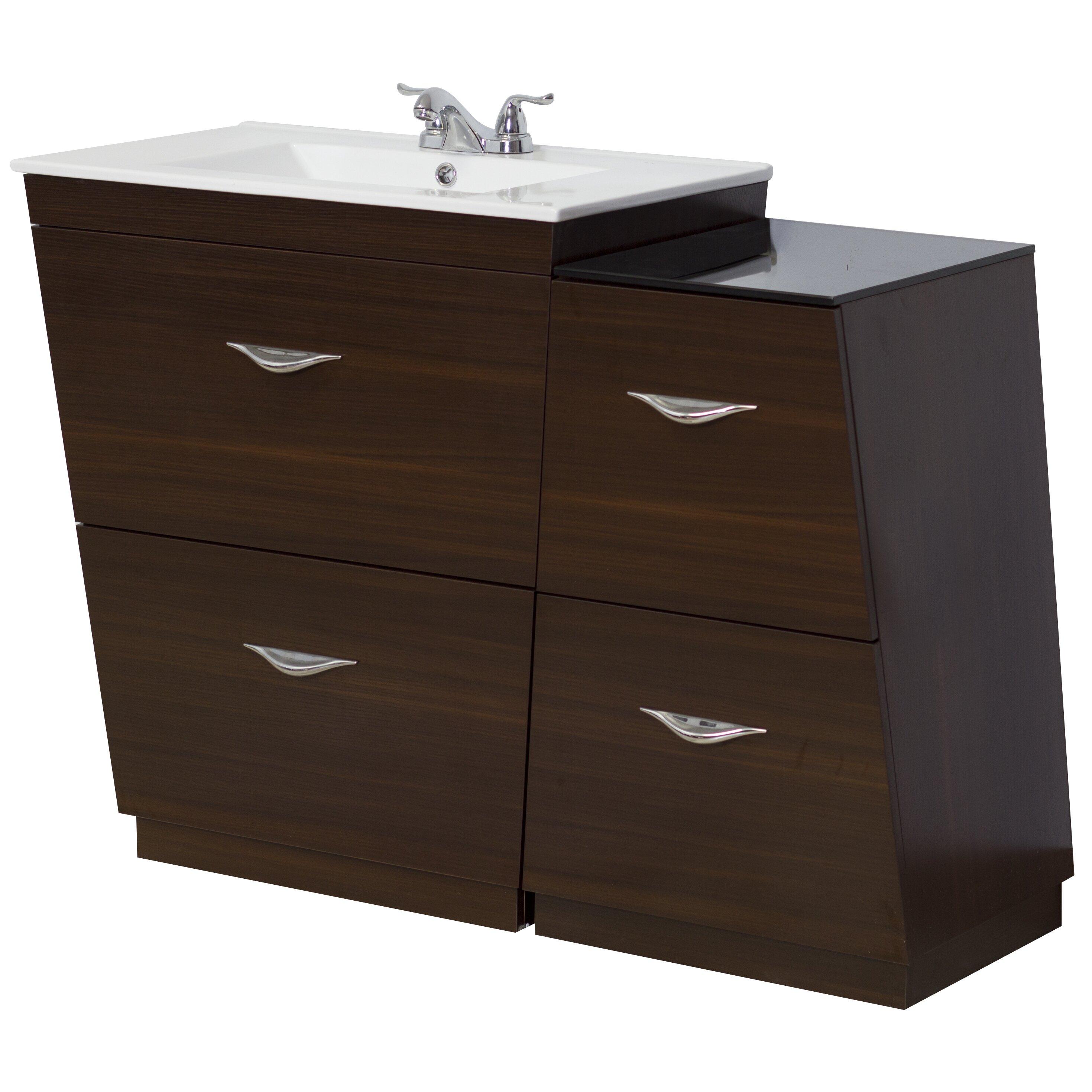 American Imaginations 43 5 Single Modern Bathroom Vanity Set Wayfair