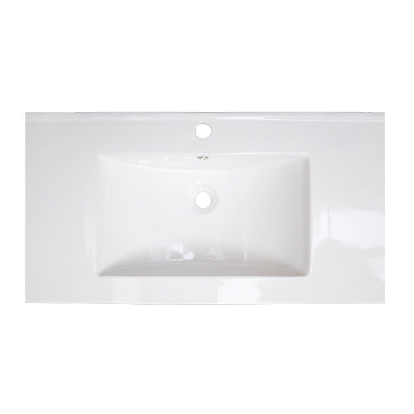 "American Imaginations 37"" Ceramic Bathroom Vanity Top"