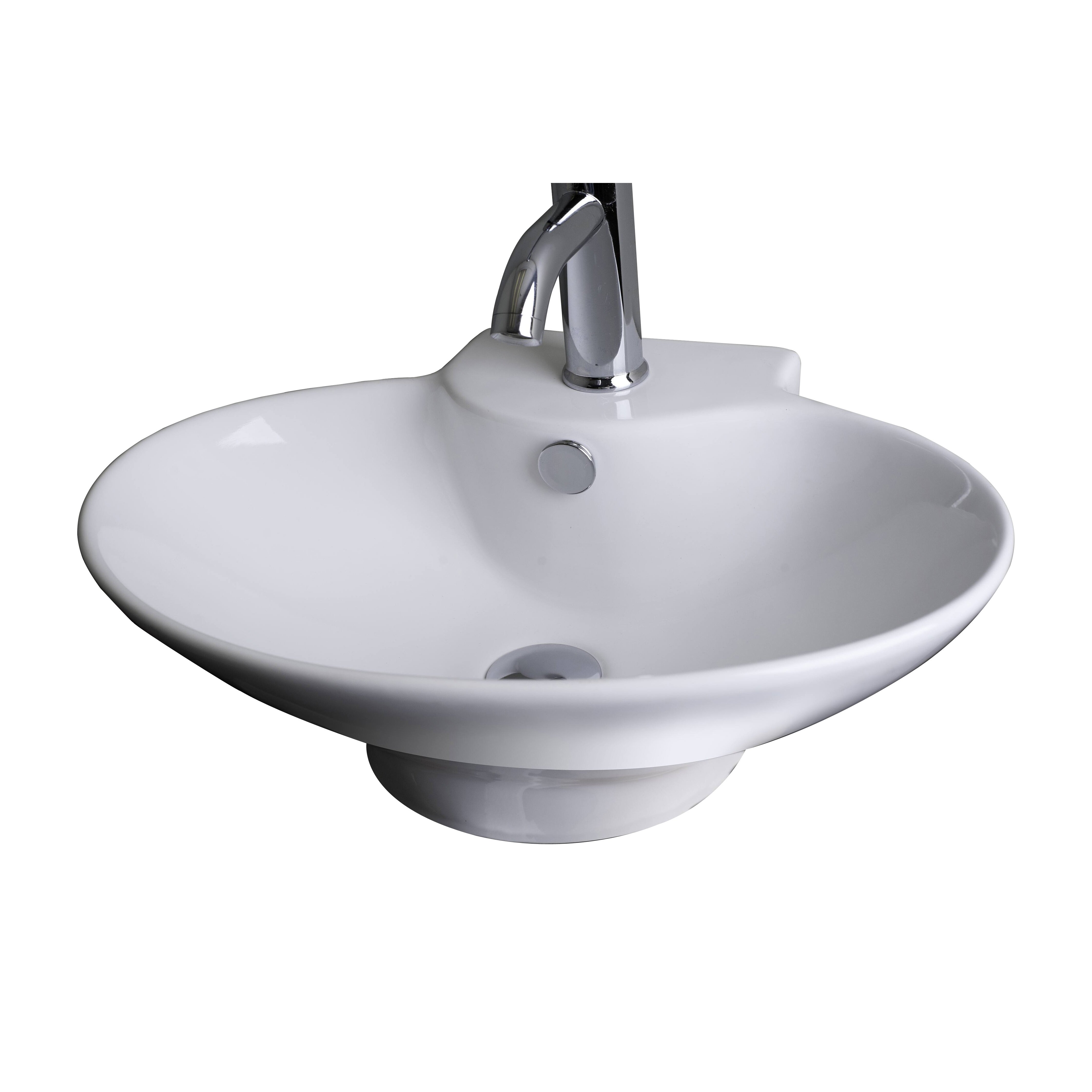 American imaginations above counter oval vessel bathroom sink wayfair for Above counter bathroom sinks glass