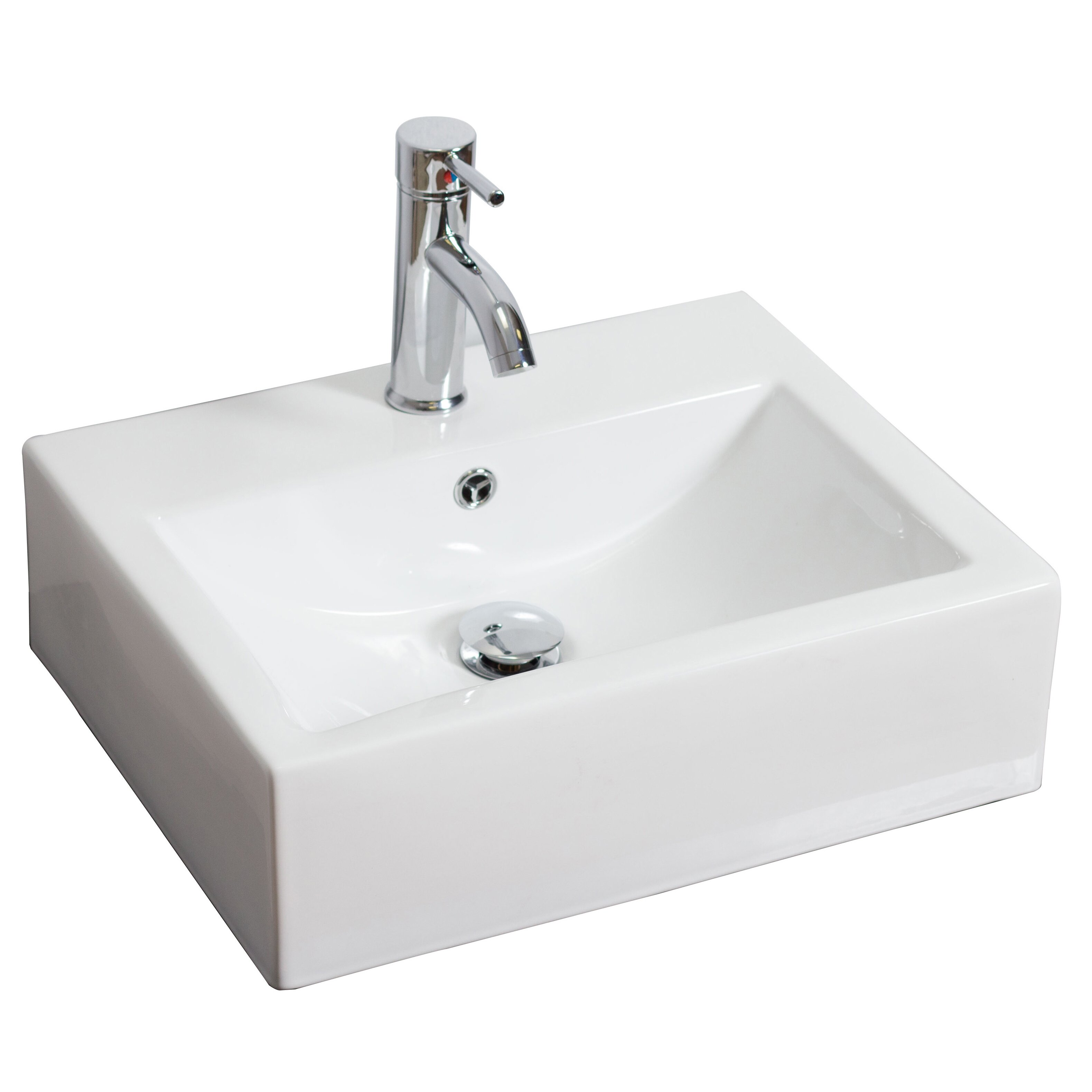 rectangular vessel bathroom sinks american imaginations rectangle vessel bathroom sink 20124