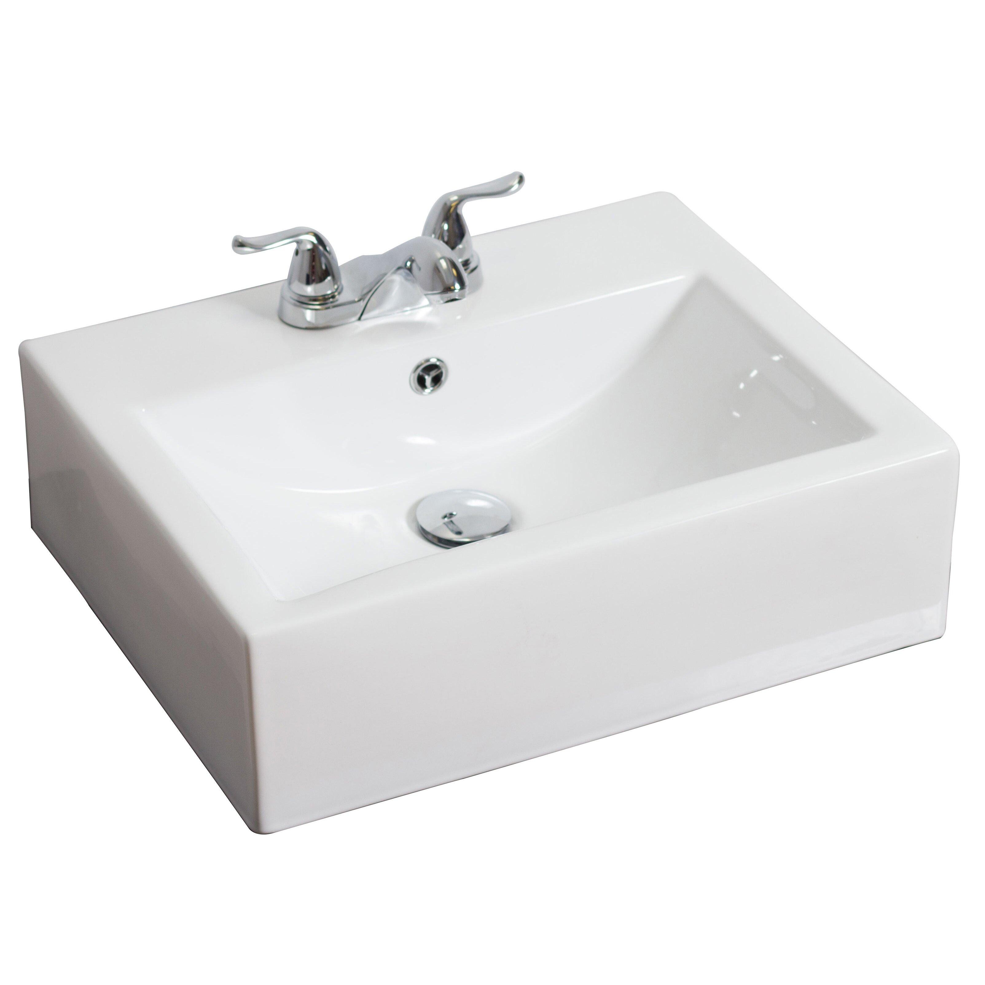 american imaginations above counter rectangle vessel bathroom sink reviews wayfair. Black Bedroom Furniture Sets. Home Design Ideas