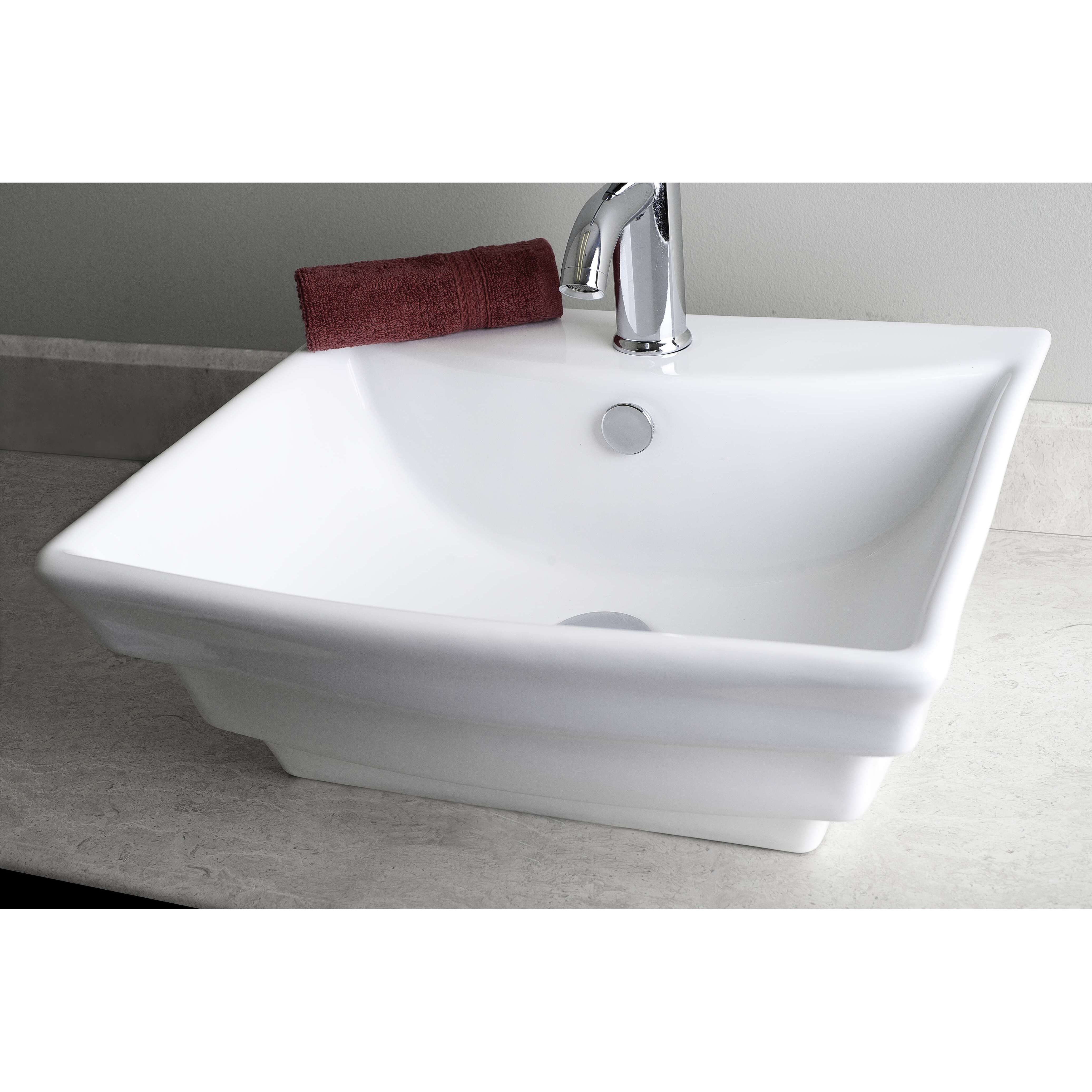 Square Vessel Bathroom Sink by American Imaginations