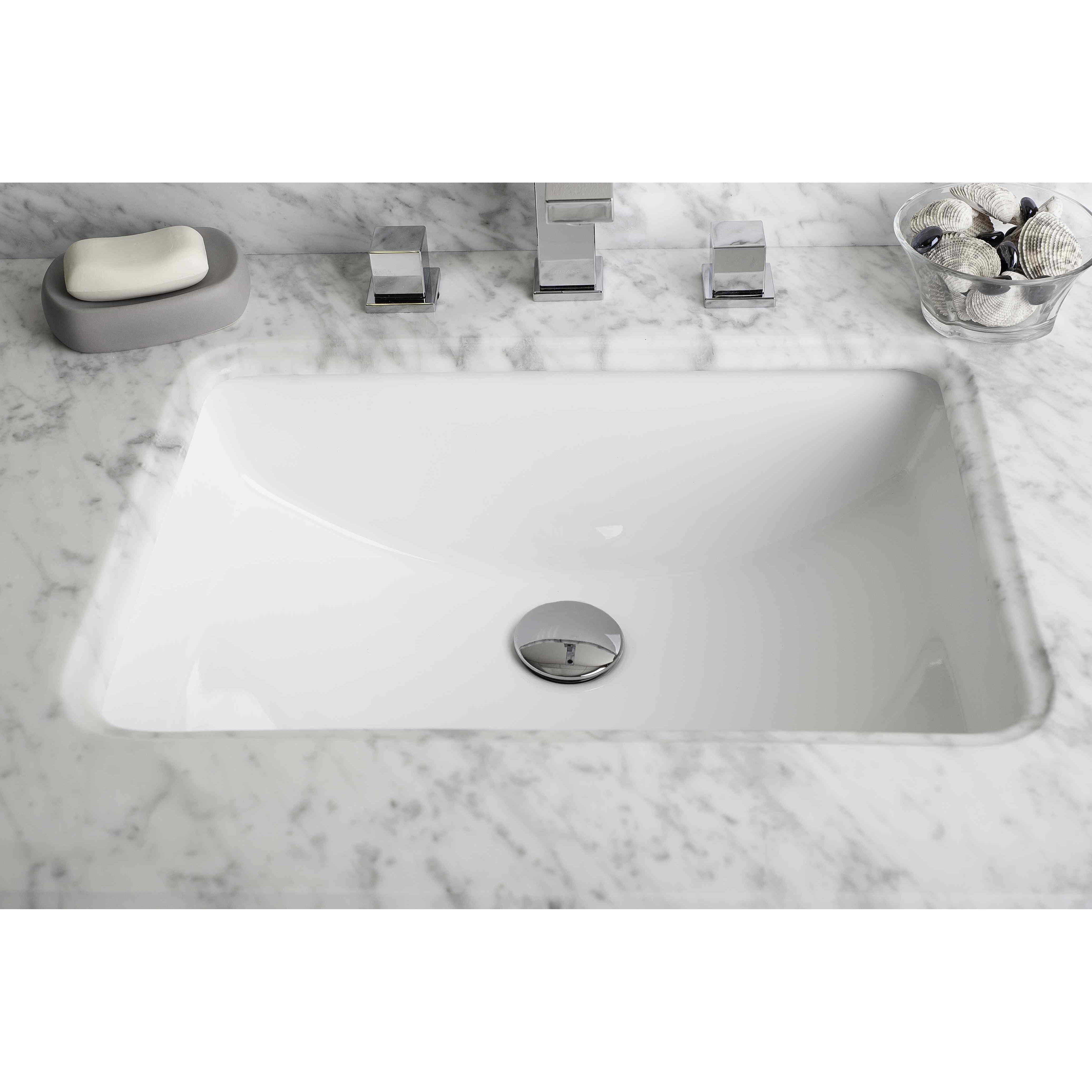 American Imaginations American Imaginations Rectangular Undermount Bathroom Sink With Overflow