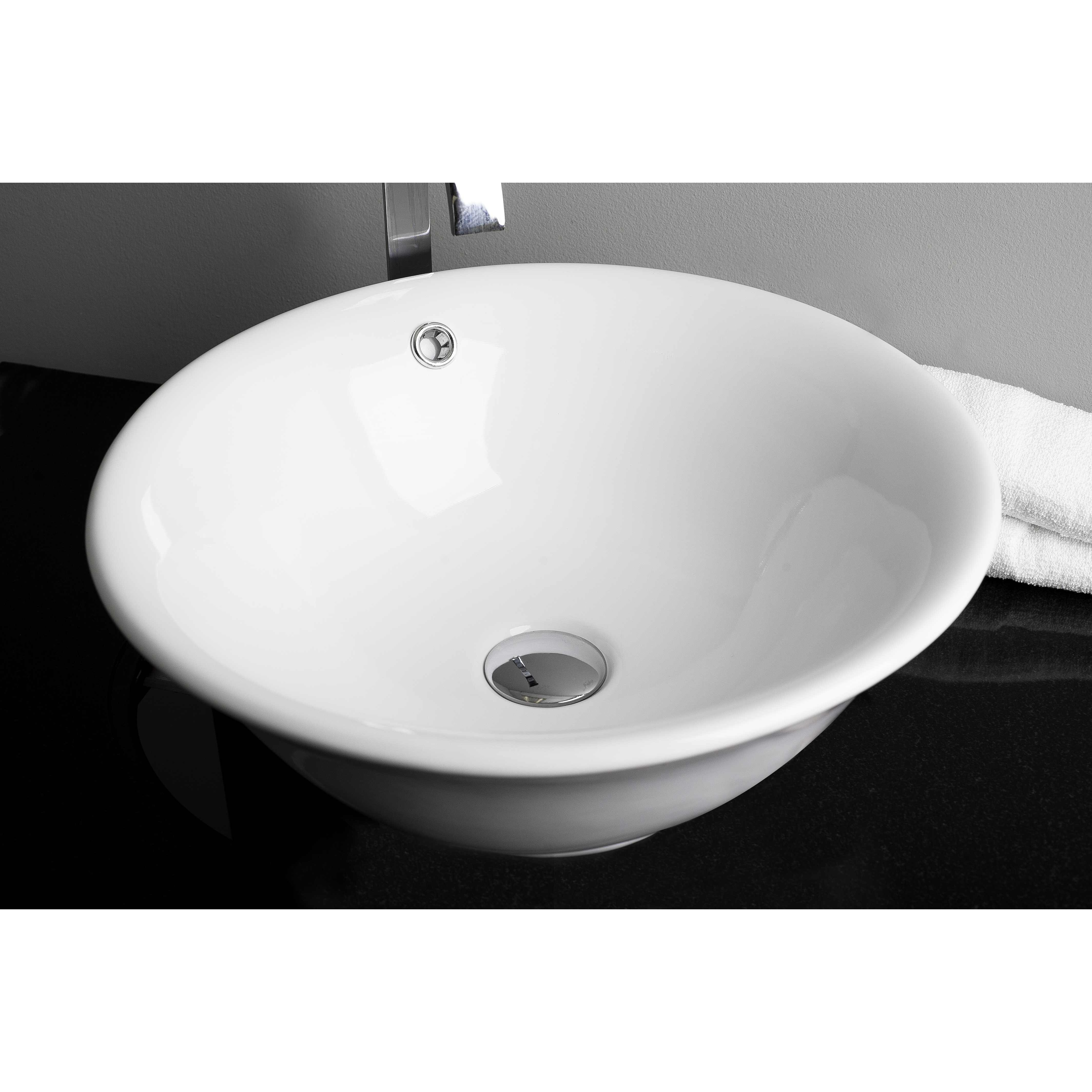 American imaginations above counter round vessel bathroom sink reviews wayfair for Above counter bathroom sinks glass