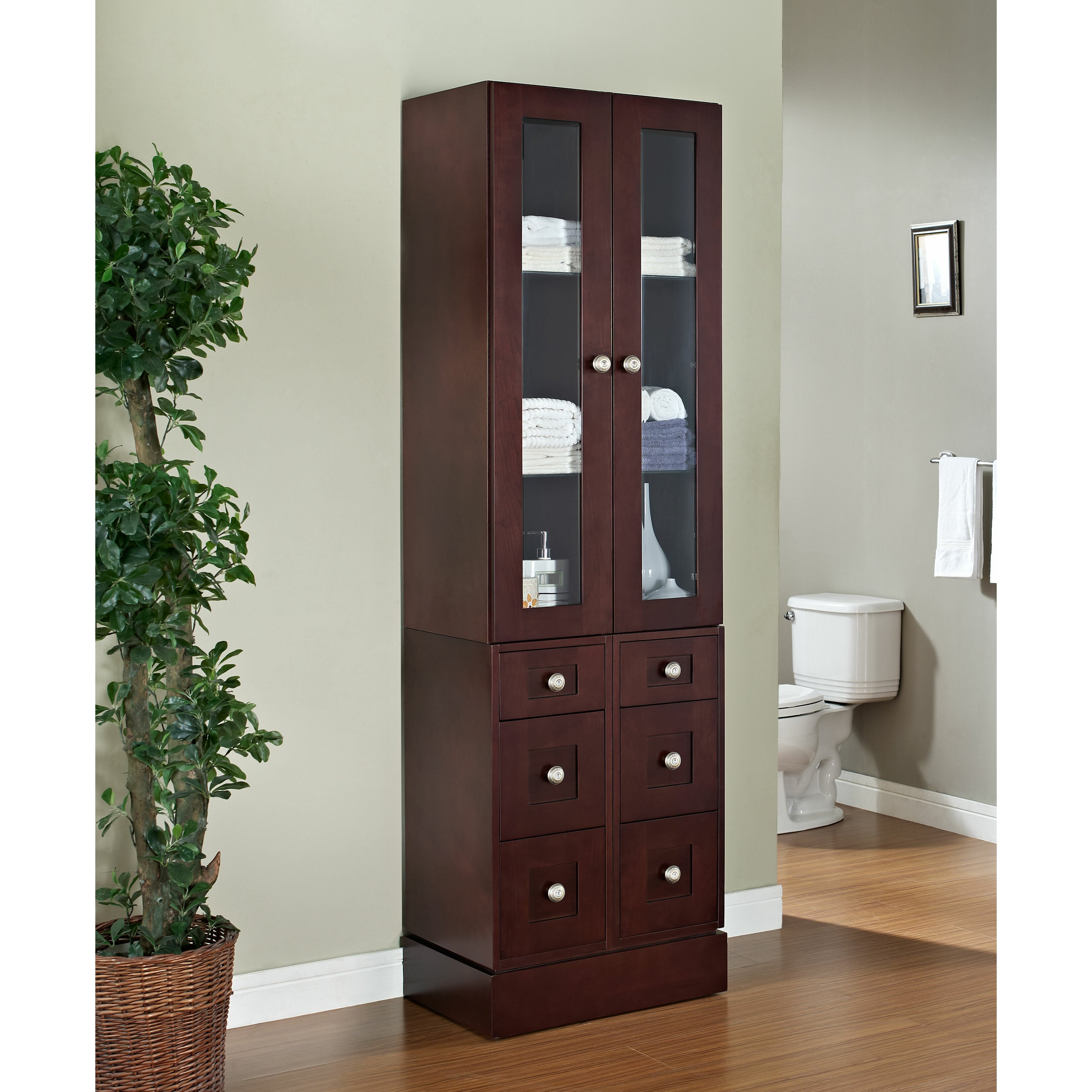 American Imaginations 24 X 82 Free Standing Linen Tower Reviews Wayfair
