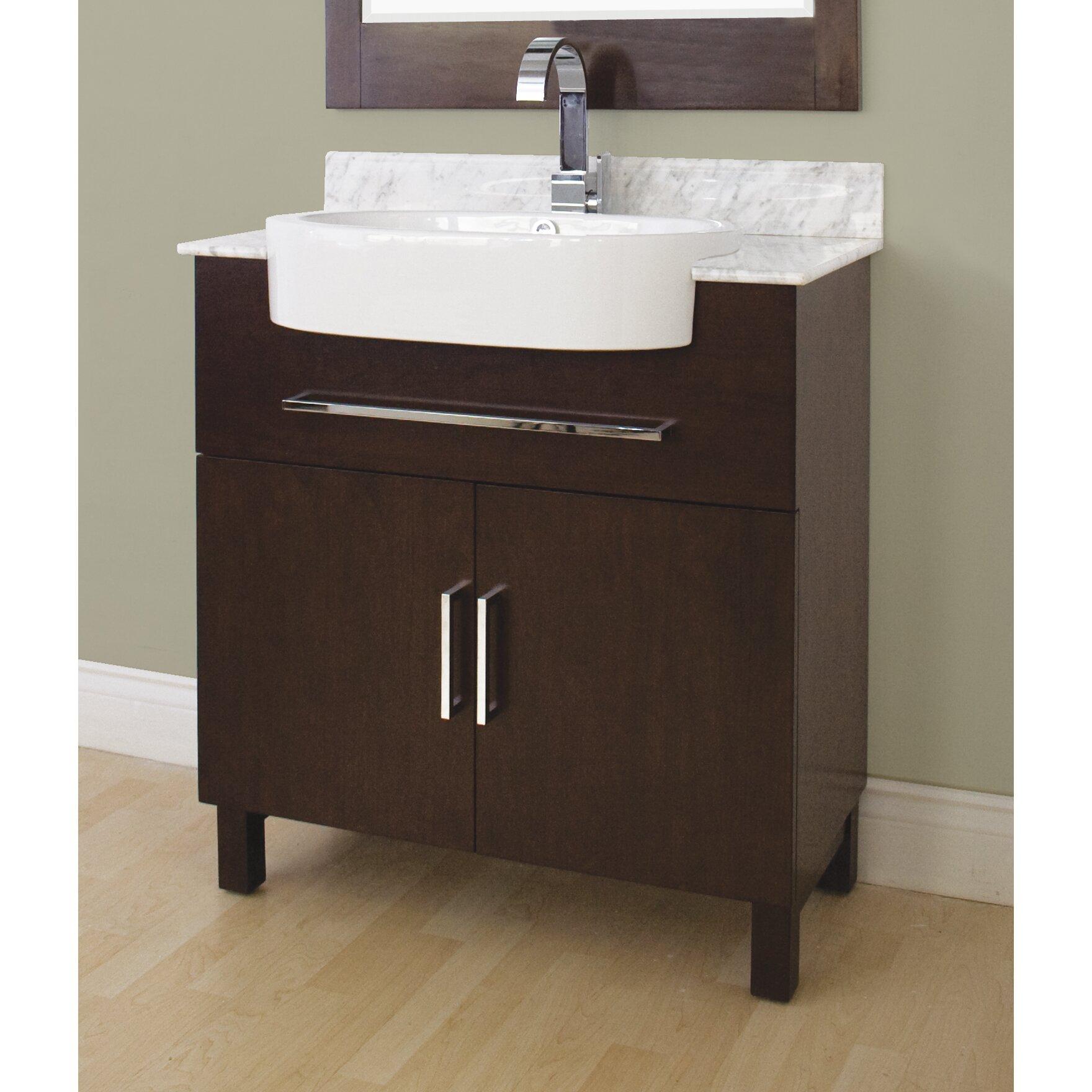 American Imaginations 33 Single Transitional Bathroom Vanity Set Reviews Wayfair